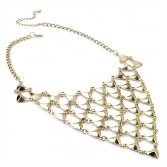Fisherman's Net Gold Mesh Necklace