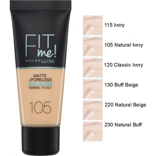 Maybelline Fit Me Matte and Poreless Foundation (30ml)