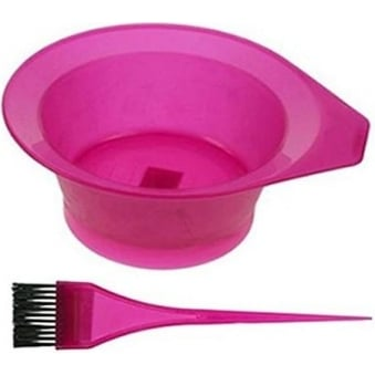 Frosted Tinting Bowl & Brush Set (Pink)