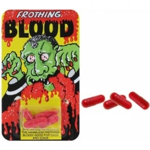 Funny Man Frothing Blood Capsules (x4 Capsules)