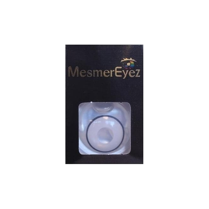Mesmereyez - Hunt Or Dye Glass White UV Contact Lenses - 1 Day / Use Fancy Dress Accessories