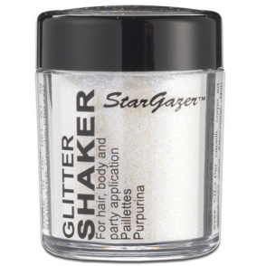 Glitter Shaker - White 5g (For Hair, Body and Party)