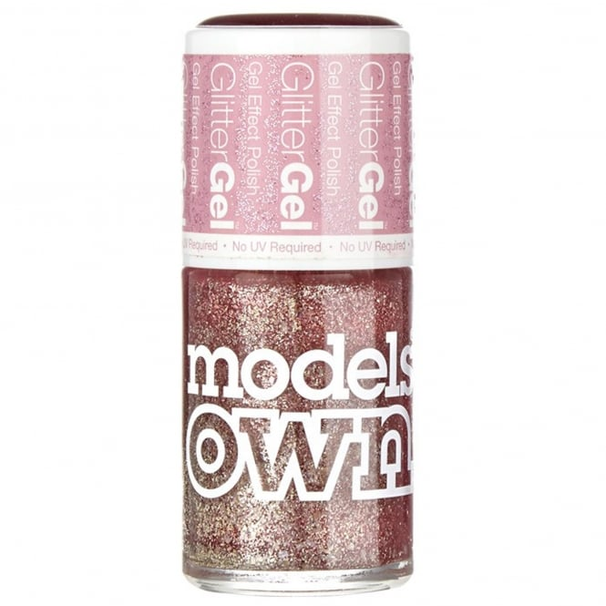 Models Own GlitterGel Gel Effect Nail Polish- Crystal Pink (14ML) (SG049)