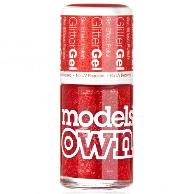 Models Own GlitterGel Gel Effect Nail Polish- Red Carpet (14ML) (SG047)