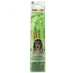 Green Face Painting Brushes (3 per set)