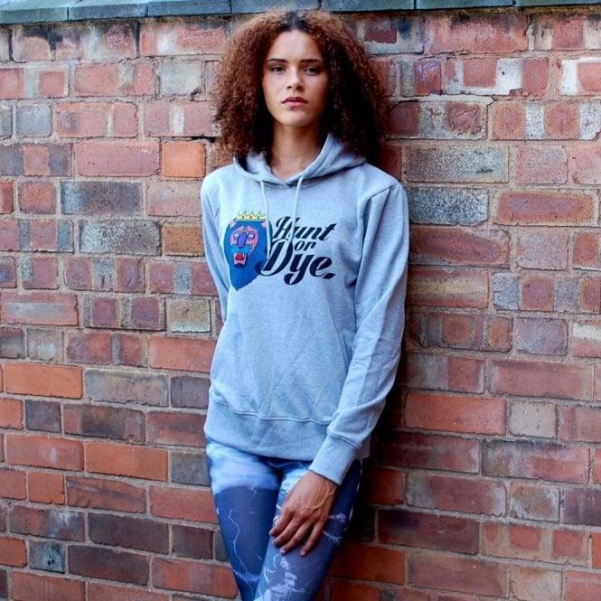 Hunt Or Dye Grey Ladies Hoodie