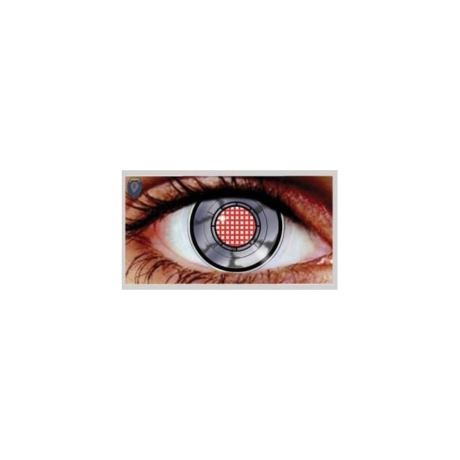 Hunt Or Dye Halloween Coloured Contact Lenses (1 Pair) - Robotic (1 Day Usage)