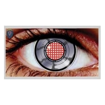 Halloween Coloured Contact Lenses (1 Pair) - Robotic (1 Day Usage)