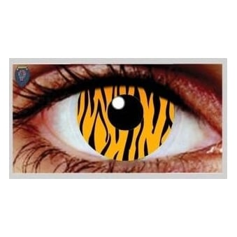 Halloween Coloured Contact Lenses (1 Pair) - Tiger (1 Day Usage)