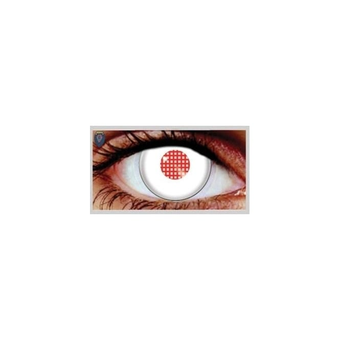 Hunt Or Dye Halloween Coloured Contact Lenses - Android White (1 Day) (1 Pair)