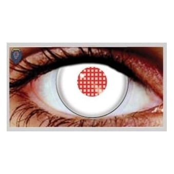 Halloween Coloured Contact Lenses - Android White (1 Day) (1 Pair)