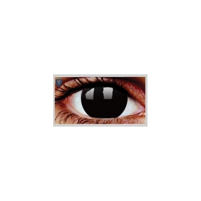 Hunt Or Dye Halloween Coloured Contact Lenses - Black Magic | Black Out (1 Day) (1 Pair)