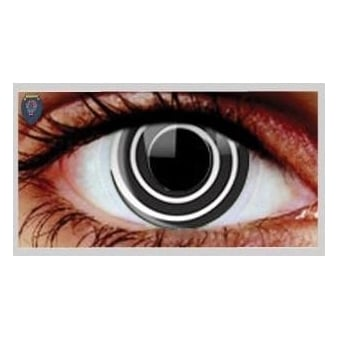 Halloween Coloured Contact Lenses - Black Spiral (1 Day) (1 Pair)