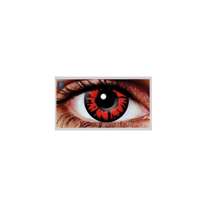 Hunt Or Dye Halloween Coloured Contact Lenses - Explosion Red Out (1 Day) (1 Pair)
