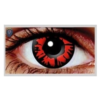 Halloween Coloured Contact Lenses - Explosion Red Out (1 Day) (1 Pair)