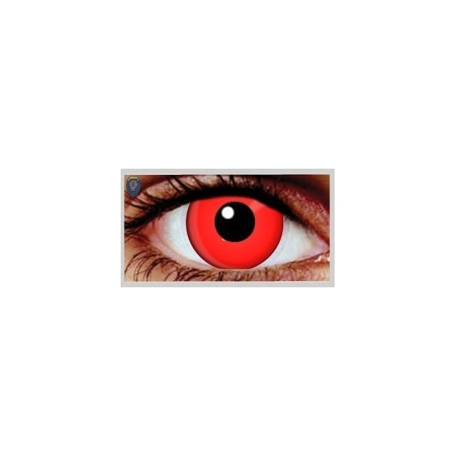 Hunt Or Dye Halloween Coloured Contact Lenses - Red (1 Day) (1 Pair)