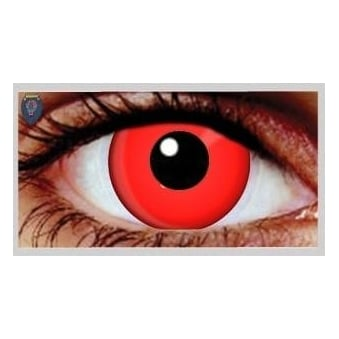 Halloween Coloured Contact Lenses - Red (1 Day) (1 Pair)