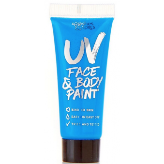 Halloween Make Up - Face & Body Paint - UV Blue (10ml)