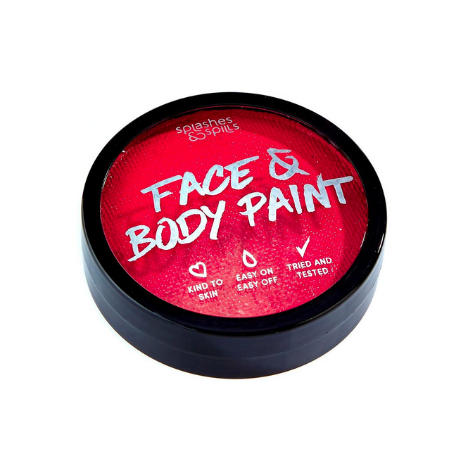 Splashes & Spills Halloween Make Up - Red Face & Body Cake Paint Tub 18g
