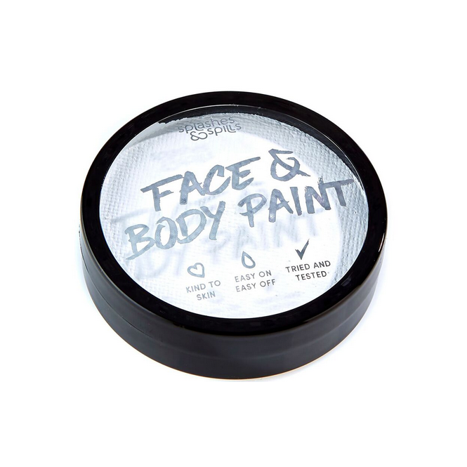 Splashes & Spills Halloween Make Up - White Face & Body Paint Cake Tub 18g