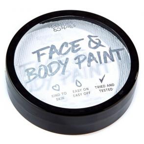 Halloween Make Up - White Face & Body Paint Cake Tub 18g