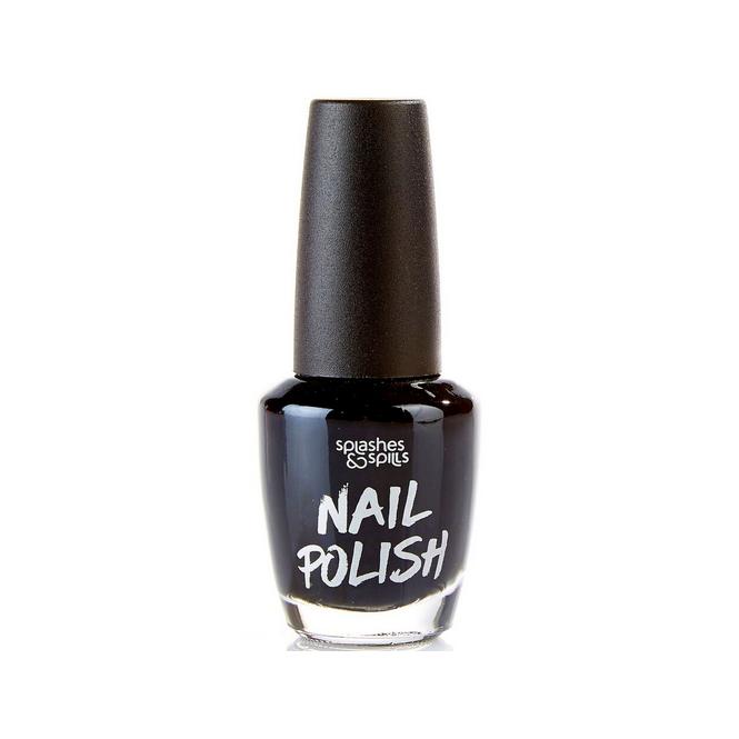 Splashes & Spills Halloween Nail Polish - Black 13ml