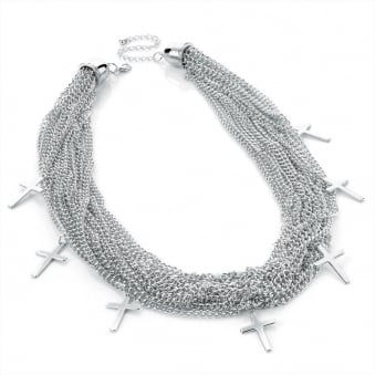 Heavy Chains Religion Silver Necklace