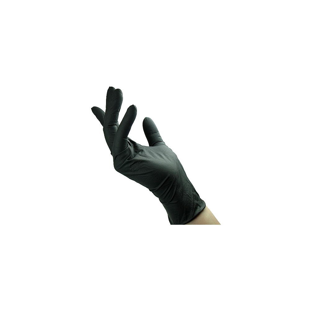 Black Latex Hair Dye Gloves 1 Pair Medium