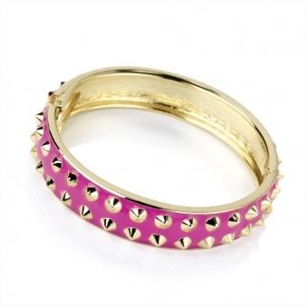 Hot Pink Dog Collar Bangle