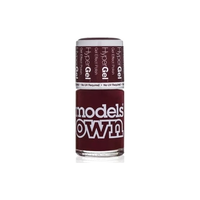 Models Own HyperGel Gel Effect Nail Polish Collection - Brunette Red 14mL