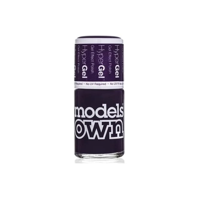 Models Own HyperGel Gel Effect Nail Polish Collection - Pitch Purple 14mL