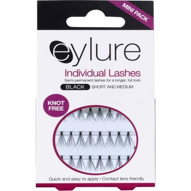 Eylure Individual Lashes(knot free) - Semi-Permanent - Short & Medium - Black