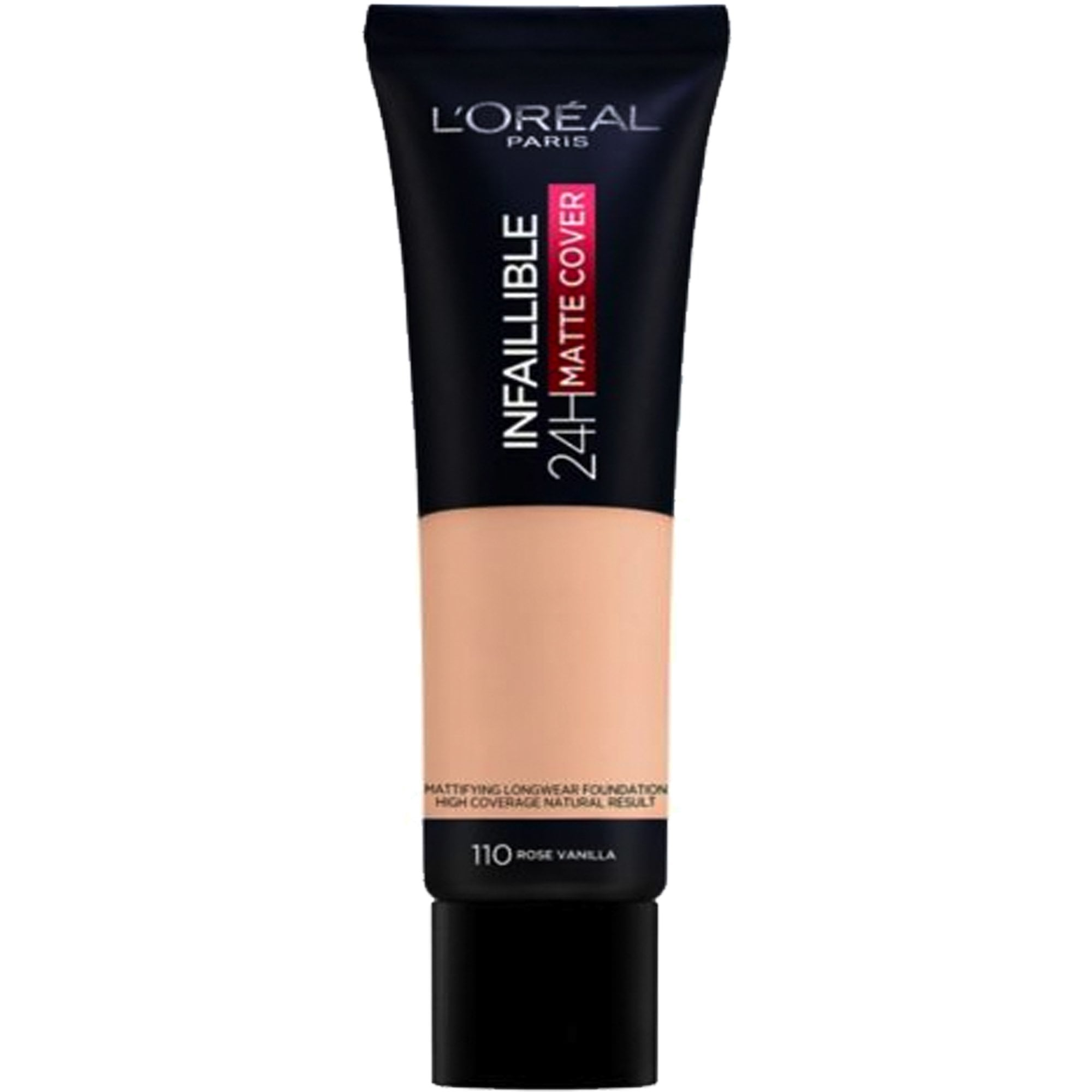 L Oreal Infallible 24h Matte Cover Foundation Rose Vanilla 110 30ml