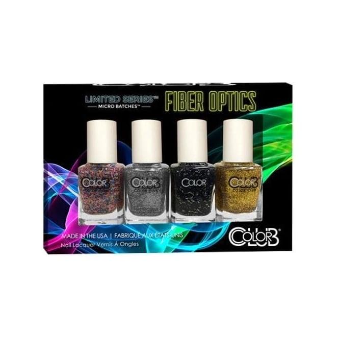Color Club Limited Series Fiber Optics Nail Polish Collection - 4-Piece Mini Set (4x 7mL)