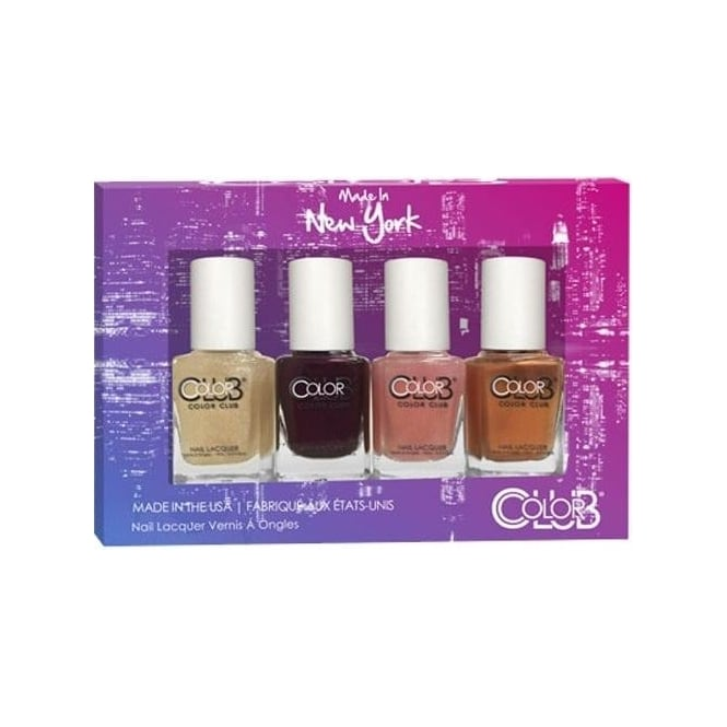 Color Club Made In New York Nail Polish Collection - 4 Piece Mini Gift Set (4x 7mL)