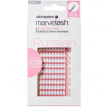 a80a9ad0e4e MarveLash - Individual Russian Volume Lashes - 0.07 6D - Black. Salon System  ...