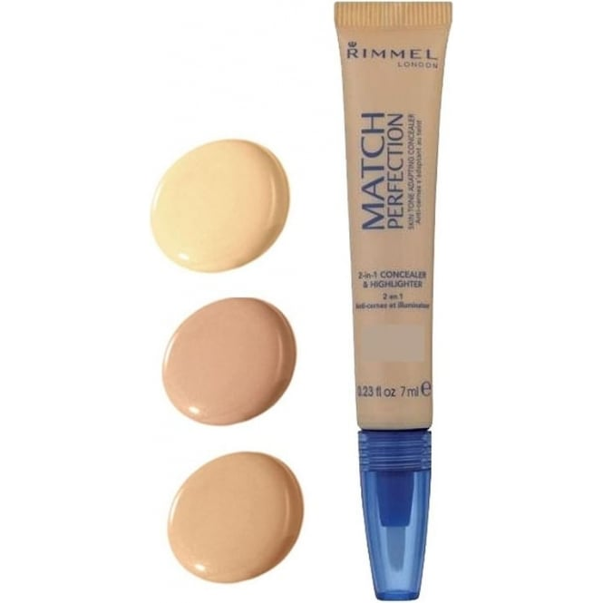 Rimmel Match Perfection 2-in-1 Concealer & Highlighter 7ml