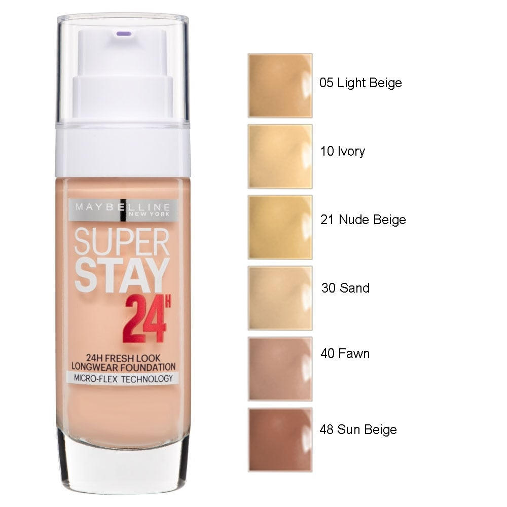Maybelline superstay 24hr longwear foundation 30ml for 24 hour tanning salon near me