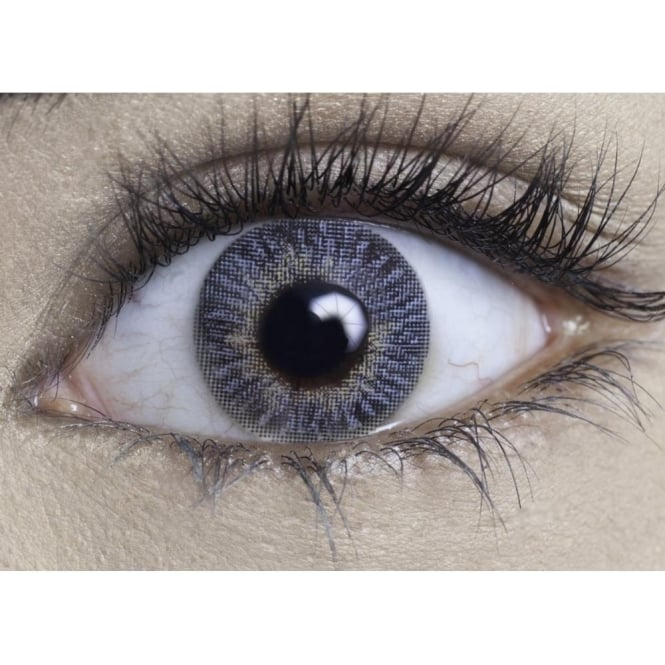 MesmerEyez Coloured Contact Lenses Natural Blendz - Blue Rush (Usage:1,3,12 Months - 1 Pair)