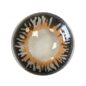 Cool Grey Contact Lenses - 1 Day Usage / Natural Fancy Dress Accessories