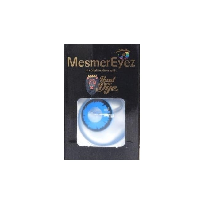 Mesmereyez - Hunt Or Dye Angelic Blue Contact Lenses - 1 Day / Use Fancy Dress Accessories
