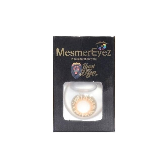 Mesmereyez - Hunt Or Dye Coco Brown Contact Lenses - 1 Day / Use Natural Fancy Dress Accessories