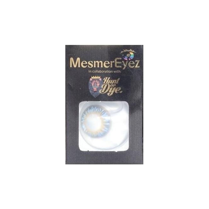 Mesmereyez - Hunt Or Dye Diamond Blue Contact Lenses - 1 Day / Use Natural Fancy Dress Accessories