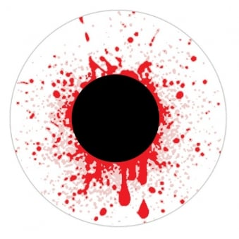 Fancy Dress Accessories One Day Halloween Contact Lenses - Bloodshot Drops (1 Pair)