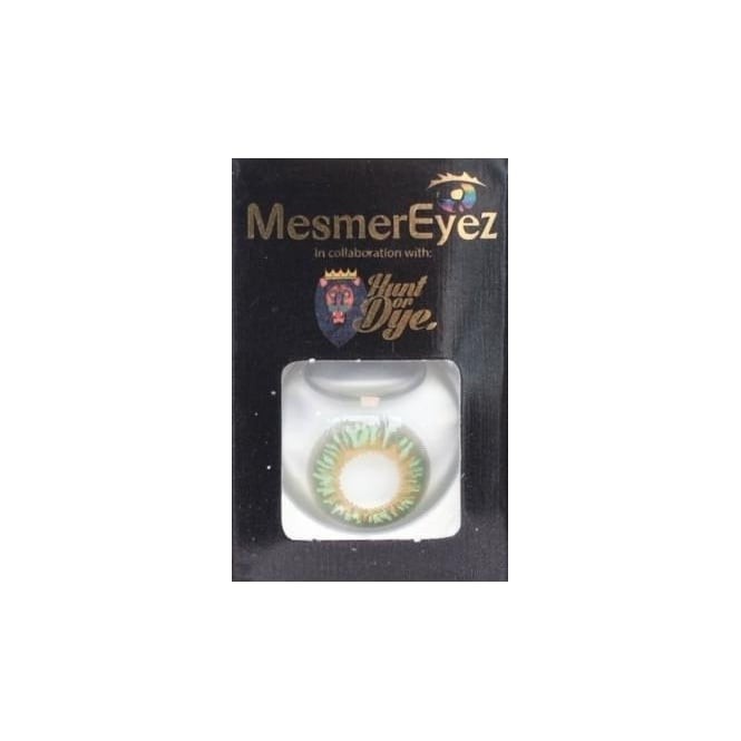 Mesmereyez - Hunt Or Dye Persian Green Contact Lenses - 1 Day / Use Natural Fancy Dress Accessories