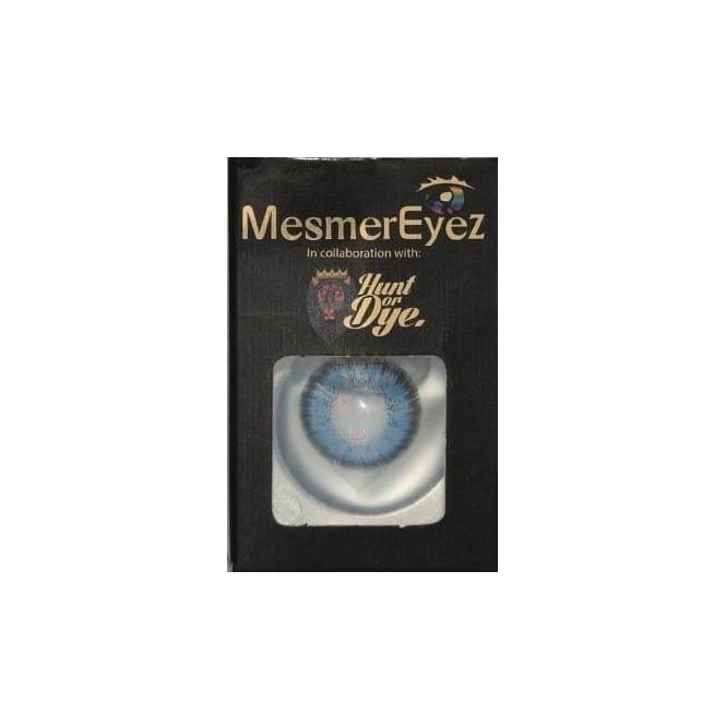 Mesmereyez - Hunt Or Dye Real Blue Contact Lenses - 1 Day / Use Natural Fancy Dress Accessories