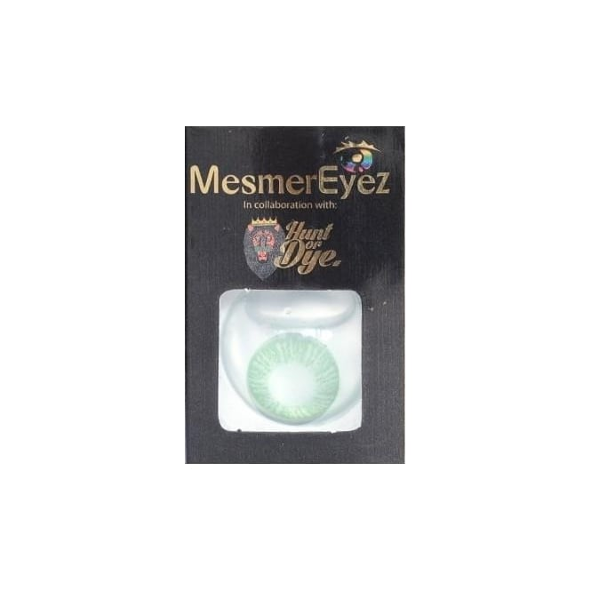 Mesmereyez - Hunt Or Dye Sea Green Contact Lenses - 1 Day / Use Natural Fancy Dress Accessories