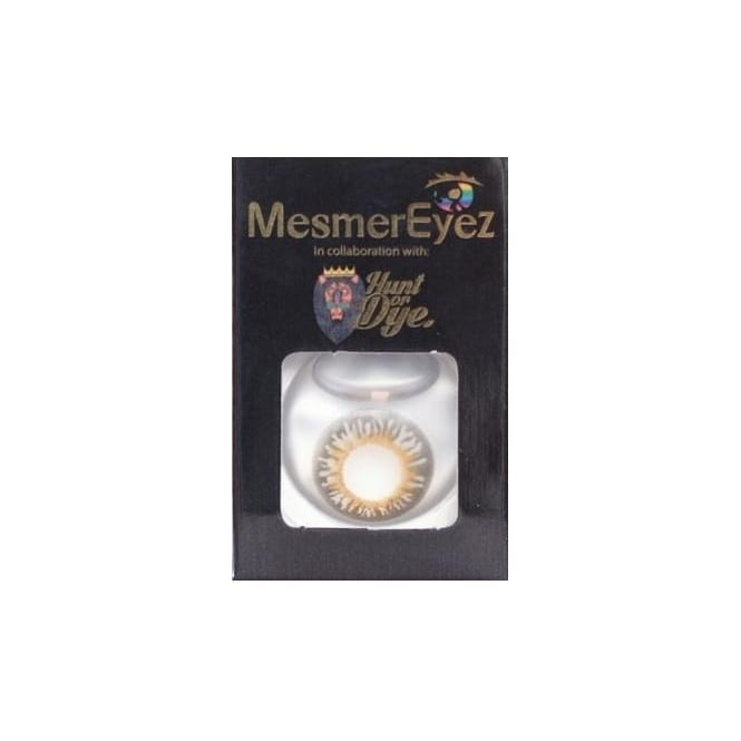 Mesmereyez - Hunt Or Dye Smokey Grey Contact Lenses - 1 Day / Use Natural Fancy Dress Accessories
