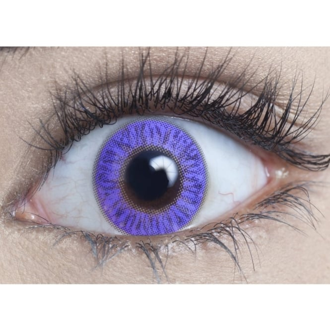MesmerEyez Natural 1 Day Coloured Contact Lenses - Pure Violet - Naturalz (1 Pair)