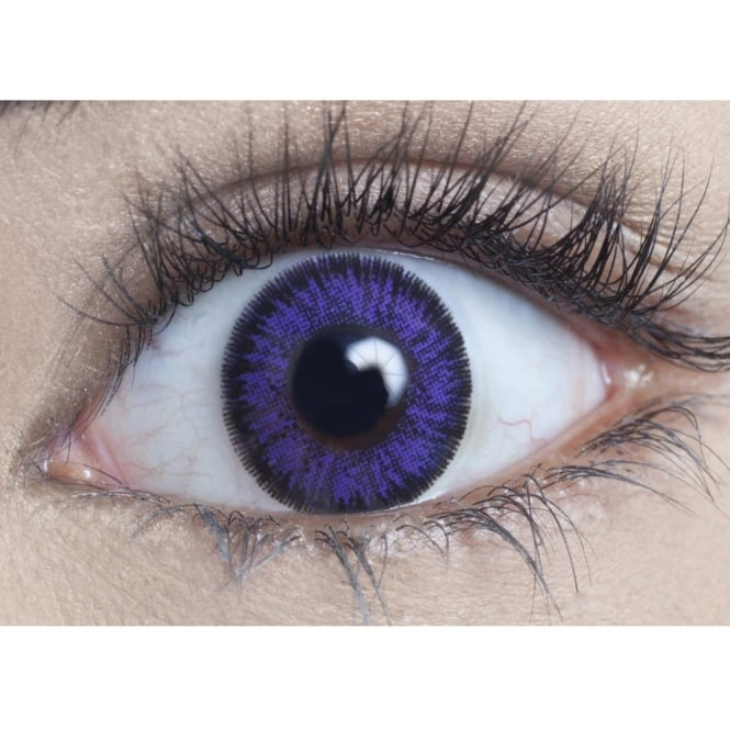 MesmerEyez Natural 1 Day Coloured Contact Lenses - Violet - Naturalz (1 Pair)